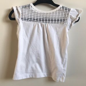 White T-shirt with crochet front